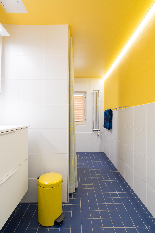 18-1 Kylpyhuone maalattu katto