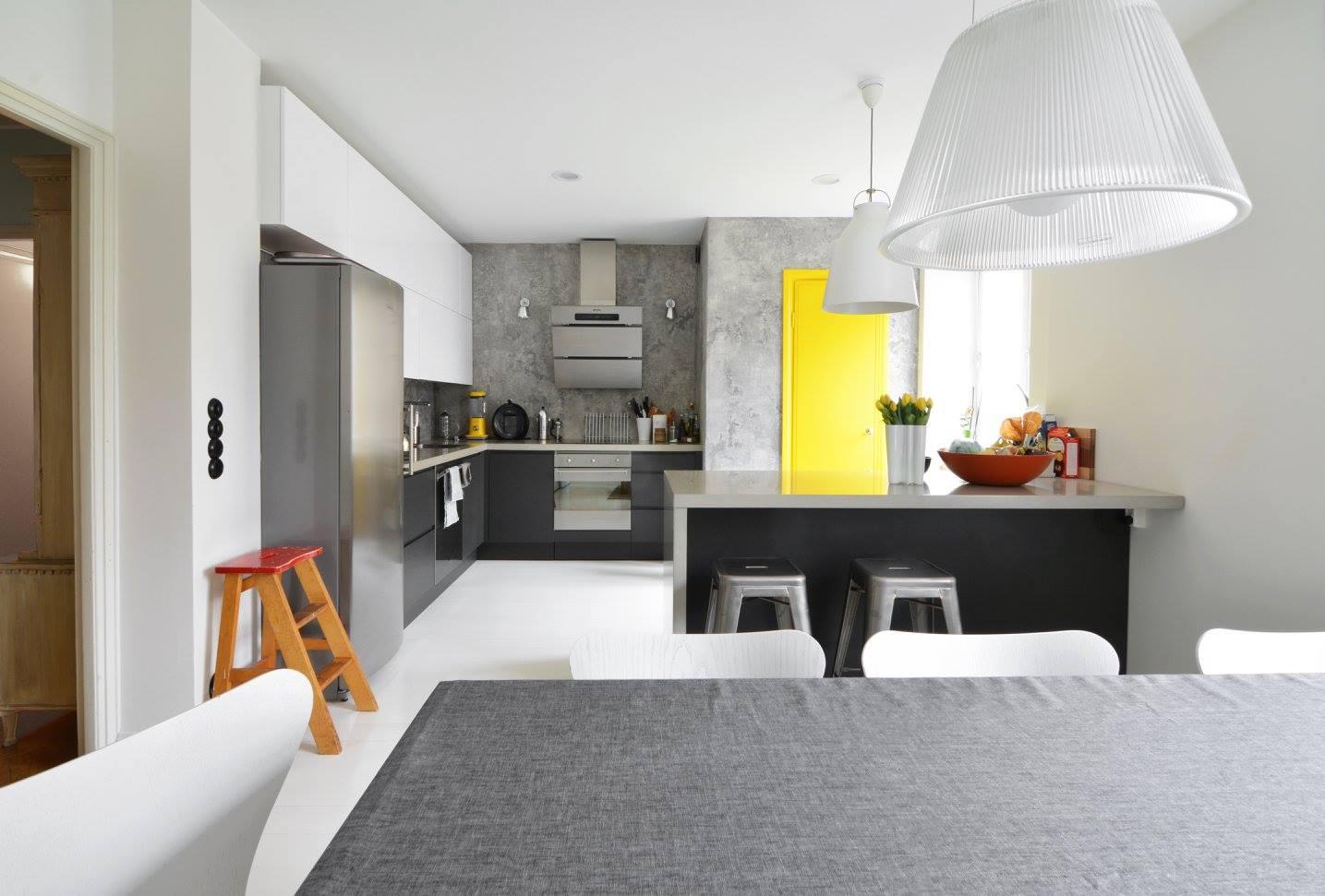 Rento ja rouhea keittio – Mikrosementtiseina